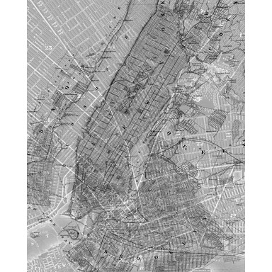 Fototapete NYC Map