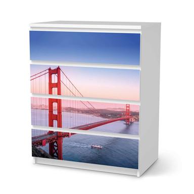 Folie IKEA Malm Kommode 4 Schubladen - Golden Gate