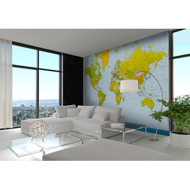 Fototapete Papiertapete Map of the World - Bild 1