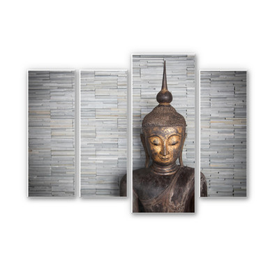 Hartschaumbild Wandbilder - Thailand Buddha (4-teilig)