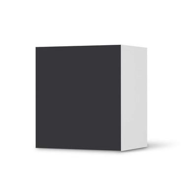 Klebefolie IKEA Besta Regal 1 Türe - Grau Dark