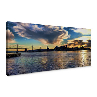 Leinwandbild San Francisco Skyline - Panorama