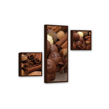 Leinwandbild Schokoladentraum 02 (3-teilig)