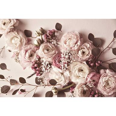Livingwalls Fototapete ARTist Flat Lay Flower mit Rosen beige, creme, rosa - Bild 1