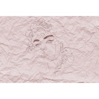 Livingwalls Fototapete ARTist Paper Face in Papier Optik rosa - Bild 1