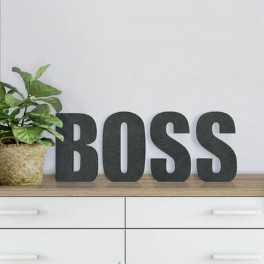 MDF-Holzbuchstaben Boss
