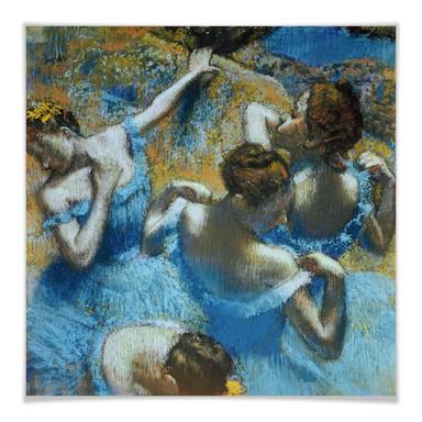 Poster Degas - Tänzerinnen in blauen Kostümen