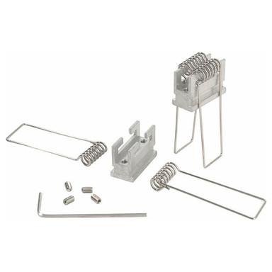 Reprofil, Nutenstein mit Spannfedern Set 2 Stk, Aluminium, Länge: 25 mm
