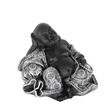 Sitzender Buddha - Statue als meditativer Ruhepunkt, Happy Buddha für Innen- und Aussenbereich