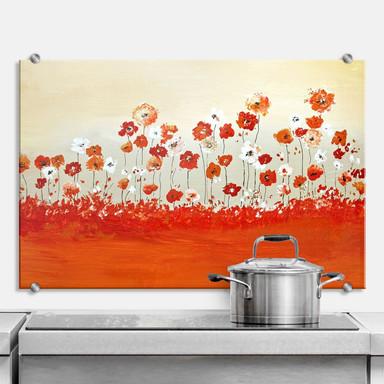 Spritzschutz Melz - Fröhliche Blumen