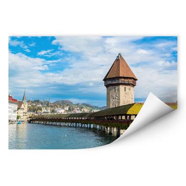 Wallprint Holzbrücke in Luzern
