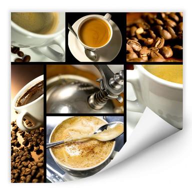 Wallprint Kaffee Vielfalt