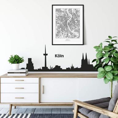 Wandtattoo Köln Skyline 1