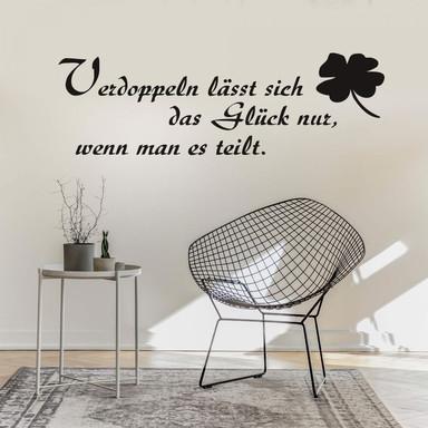 Wandtattoo Verdoppeln lässt sich das Glück nur...