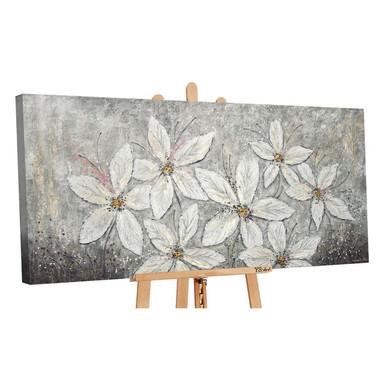 Acryl Gemälde handgemalt Blumenparadies 140x70cm