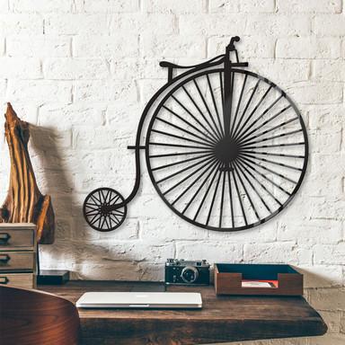 Acryldeko - Altes Fahrrad - Hochrad