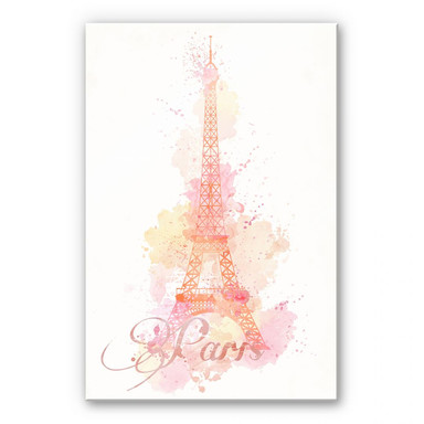 Acrylglasbild La Tour Eiffel Aquarelle