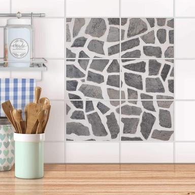 Fliesenfolie quer - Steinmosaik