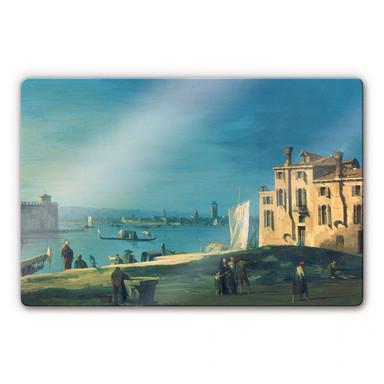 Glasbild Canaletto - Blick von San Pietro auf die Insel Murano