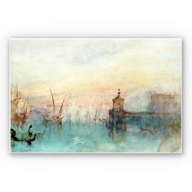 Hartschaumbild Turner - Venedig mit erster Mondsichel