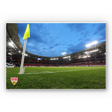 Hartschaumbild VfB Stuttgart Arena Nacht