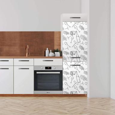 Klebefolie - Hochschrank (60x180cm) - Vino- Bild 1