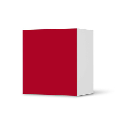 Klebefolie IKEA Besta Regal 1 Türe - Rot Dark