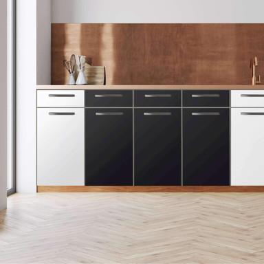 Küchenfolie - Unterschrank 120cm Breite - Schwarz