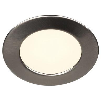 LED Einbauleuchte DL 126. rund, gebürstetes Metall, 2700 K