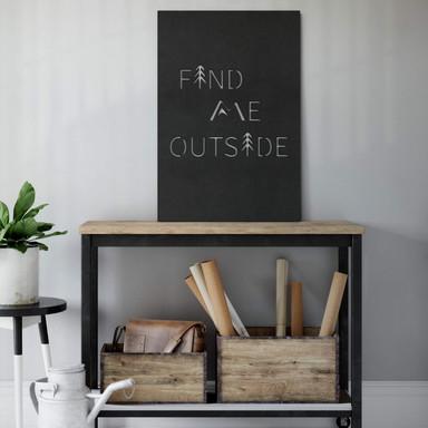 MDF - Holzdeko Find me outside