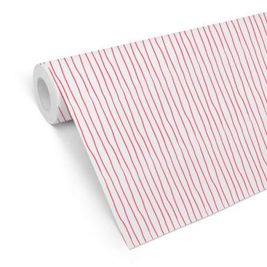 Mustertapete Stripes - pink