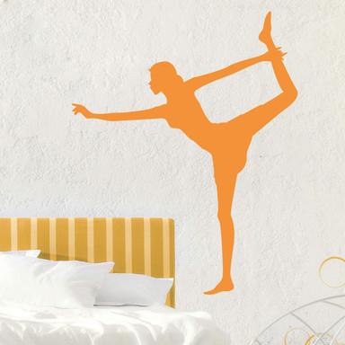 Wandtattoo Yoga - Der stehende Bogen