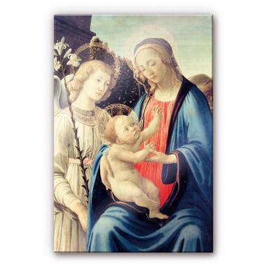Acrylglasbild Botticelli - Madonna mit Kind und einem Engel