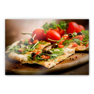 Acrylglasbild Pizza all'Italiana