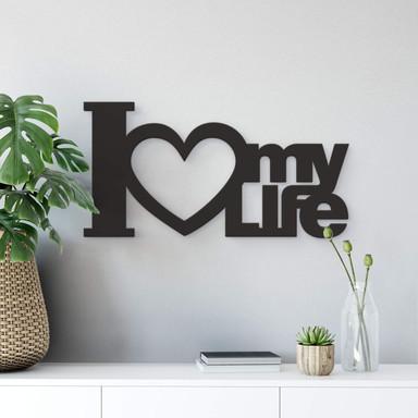 Dekobuchstaben 3D - I Love my Life - Bild 1