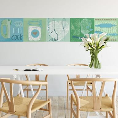 Fototapete Loske - In the Kitchen - Panorama - 48x260cm - Bild 1