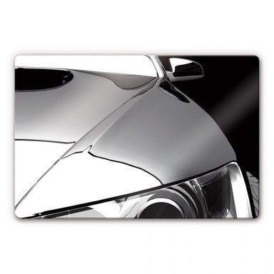 Glasbild Metallic Car