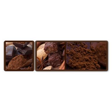 Glasbild Schokoladentraum 01 (2-teilig)