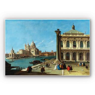 Hartschaumbild Canaletto - Die Einfahrt zum Canal Grande