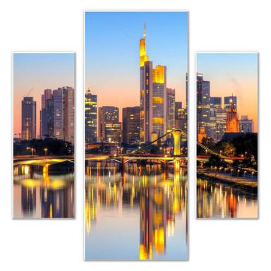 Hartschaumbild Frankfurter Lichter (3-teilig)