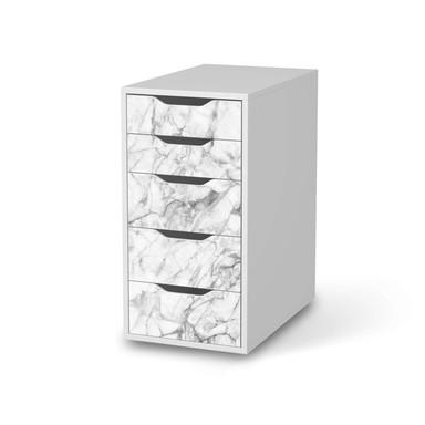 Klebefolie IKEA Alex 5 Schubladen - Marmor weiss