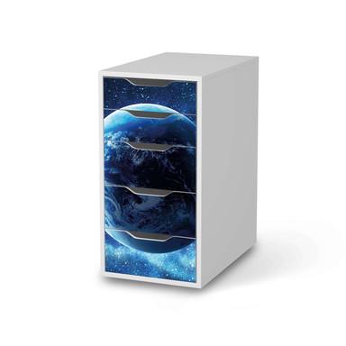 Klebefolie IKEA Alex 5 Schubladen - Planet Blue