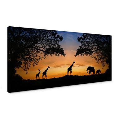 Leinwandbild African Sunset