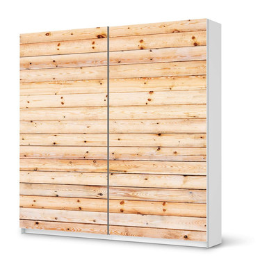 Möbel Klebefolie IKEA Pax Schrank 201cm Höhe - Schiebetür - Bright Planks- Bild 1