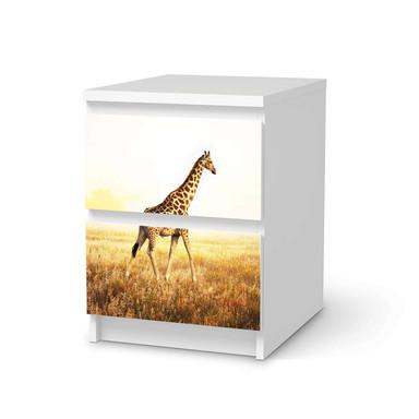 Möbelfolie IKEA Malm Kommode 2 Schubladen - Savanna Giraffe