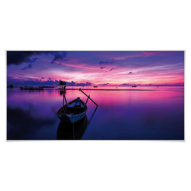 Poster Pink Sunrise - Panorama