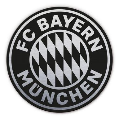 Alu-Dibond-Silbereffekt FC Bayern Logo