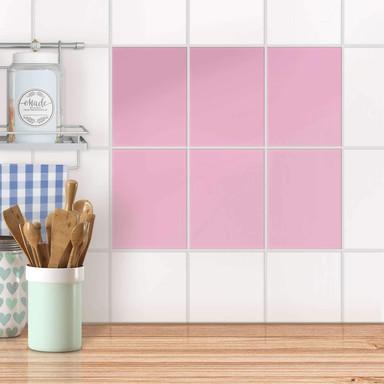 Fliesensticker unifarben - Pink Light