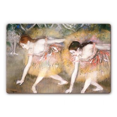 Glasbild Degas - Sich verbeugende Ballerinen