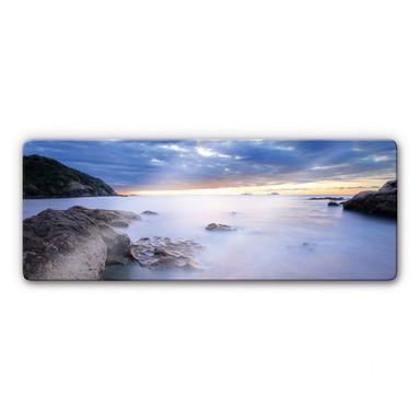 Glasbild Meeresbucht Panorama